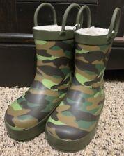 Capelli Kids New York Rain Boots Camo Toddler Cozy Lining NEW Boys Girls 4/5