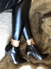 Gianmarco Lorenzi Ankle Black Leather Booties 38.5