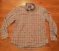 Charles Tyrwhitt Weekend Non Iron Slim Fit Men's Size XXL Shirt Red Plaid