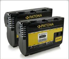 batteria enel15 en-el15 X2 patona NIKOND800 D800E D810 D600 D610 D7100 D710 D750