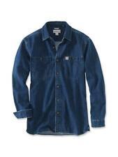Carhartt Herren Denim Jeans Hemd