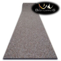 Hall Runners DOOR MATS TRAPPER brown Heavy Duty Non-Slip Rubber width 100-200 cm