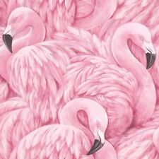 Pink Flamingo Wallpaper Animal Print Modern Birds Feathers Luxury Rasch
