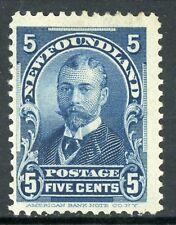Canada 1899 Newfoundland 5¢ Blue Scott #85 Mint Z762