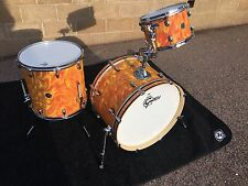 Gretsch 3-Piece Catalina Club Standard Kit w/ Orange Satin Flame Finish 22/12/16