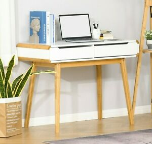 Scandinavian Writing Desk Retro Study Table Home Office Laptop Workstation Wood