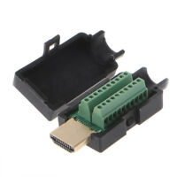 Solderless Connector Black Cover HDMI Male Plug Breakout Terminals Board