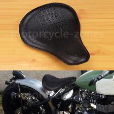 Motorcycle Black Alligator Slim Solo Seat Large For Harley Bobber Chopper XL 883
