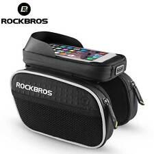 ROCKBROS Top Tube Bike Bag Rainproof Touch Screen MTB Cycling Bicycle Black Bag