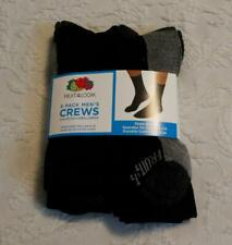 Fruit Of The Loom Men's 6-Pack Cushioned Sole Crew Socks SH3 Black Size 6-12 NWT