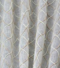 "2.75 yd x 54""  Sheer Off-White Window Treatment Fabric ""Harlequin Stitch"""