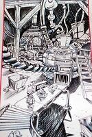 Original Animation Background Layout Santas Toy Factory Roy Wilson Disney Artist