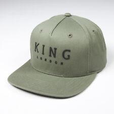 King Apparel Staple Pinch Panel Snapback Cap - Olive [NEW]