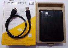 WD My Passport 2 TB [Nero] USB 3.0 Portatile HDD Esterno disco rigido
