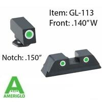 AmeriGlo Classic Tritium Night Sights GLOCK 17 19 22 23 24 26 27 33 34 35 GL-113