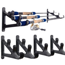 2Set Horizontal Wall Fishing Rod Rack for Fishing Rod Storage Holds up to 6 Rods