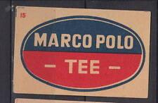Ancienne  étiquette   allumettes  Allemagne   AH21 Marco Polo Thé