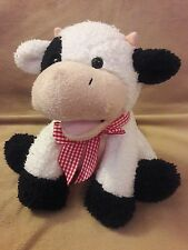 PRINCESS SOFT TOYS by MELISSA & DOUG Sherpa COW plush stuffed Animal toy 8""