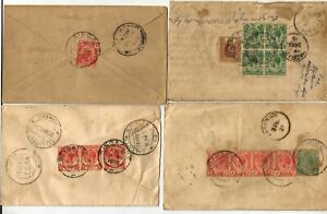 Singapore 4 covers, 1919-36, King GV, two registered and one air mail, with vari
