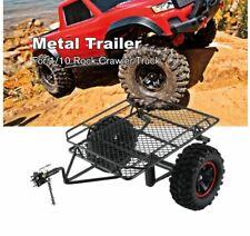 1/10 Axial D90 SCX10 CC01 TRX-4 RC Car Rock Crawler metal Trailer W/Tire DIY USA