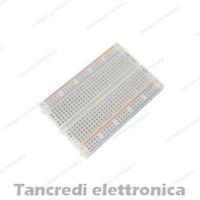 Breadboard 400 punti contatti piastra sperimentale basetta (Arduino-Compatibile)