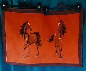 TORCHON DE CUISINE VINTAGE - les chevaux. Vony France.