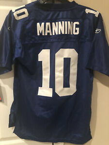 NFL NY Giants Eli Manning Reebok OnField Embroidered Jersey Kids L (14-16)