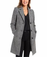 82022820 KENDALL + KYLIE Black & White Houndstooth Woolly Coat-L(4)