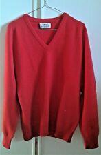 Pringle maglione scollo  a V 100% lana tg 40 inglese rosso