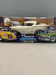 Muscle Machines 1/18 1958 White Chevy Impala DieCast Hot Rod Model Car. Too Cool