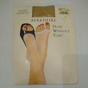 Berkshire Ultra Sheer Control Top Toeless Natural Tan Pantyhose Size 2