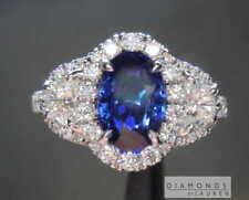1.84ct Blue Oval Sapphire Ring R7690 Diamonds by Lauren