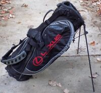"Nike Golf BG0216 Lexus Woven Air Dual Strap Carry Bag 5-Way Divider 9"" Oval Used"