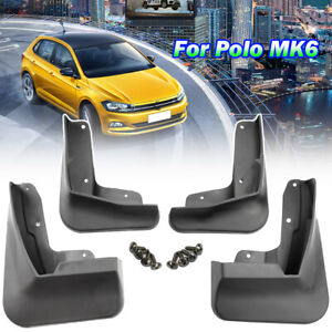Molded Mud Flaps Splash Dirty Guards Mudguards For VW Polo 6 MK6 2019 2020 AW