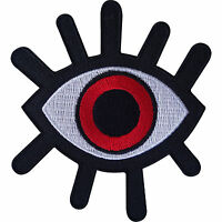 Evil Eye Patch Iron On / Sew On Clothes Biker Motorbike Motorcycle Monster Badge
