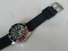 Blue Leather Watch Strap to fit Seiko SKX Diver Watches Quick release pins 20 mm