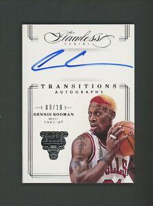 2012-13 Panini Flawless Transitions Dennis Rodman HOF Signed AUTO 9/10 Bulls