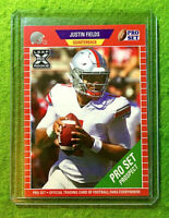 JUSTIN FIELDS CHICAGO BEARS ROOKIE CARD JERSEY #1 OHIO STATE RC 2021 Leaf PROSET