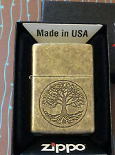 Zippo 29149 Tree of Life Antique Brass NEW Windproof Lighter Free Shipping