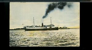 S.S. SENIAC on South Shore, N.S. , ship on used post card Canada