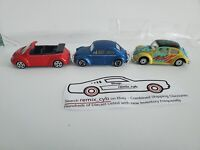 Maisto - VOLKSWAGEN BEETLE / VW BUG - Lot of 3