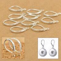 100PCS 925 Sterling Silver Beadings Findings Earring Hooks Leverback Earwire ✅