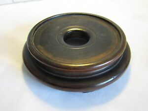 Antique/Vintage Round Wooden Plinth Display Stand (b)
