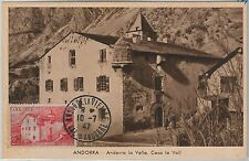 56888 - FRENCH ANDORRA - POSTAL HISTORY: MAXIMUM CARD 1947 - Architecture
