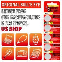 5 x SUPER FRESH BULL's EYE ECR2032 CR2032 Lithium Battery 3V Coin Cell Exp. 2031