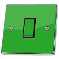 Plain Bright Green Light Switch & Power Socket Stickers skin decal vinyl cover