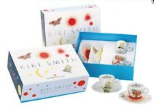 New illy art collection kiki smith espresso set of TWO cups + 2 saucers in box