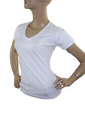 T-shirt donna bianco stretch WILLIAMS WILSON tg xs scollo v manica corta