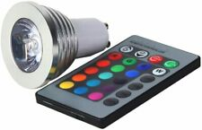 1 x GU10 Multi-Color LED Light Bulb with Remote Control (GU10 RGB) Non Dimmable