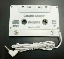 Brand New Philips Universal Cassette Adapter 3.5mm Audio Jack Mp3 iPhone Android
